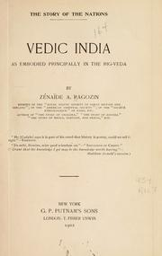 The story of Vedic India as embodied principally in the Rig-Veda