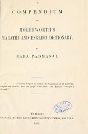 A compendium of Molesworth's Marathi and English dictionary