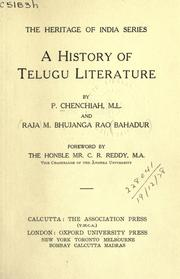 A history of Telugu literature