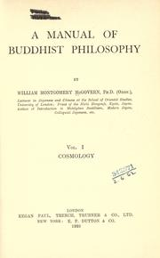 A manual of Buddhist philosophy