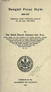 Bengali prose style, 1800-1857