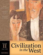Cover of: Civilization in the West, Volume II (since 1555) (6th Edition)