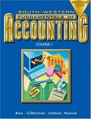 Cover of: Fundamentals of Accounting Course 1