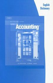 Cover of: English Dictionary for Gilbertson/Lehman/Passalacqua/Ross' Century 21 Accounting, 8th