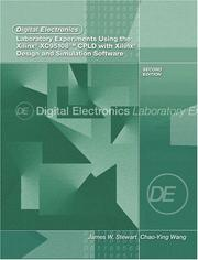 Cover of: Digital Electronics Laboratory Experiments Using the Xilinx XC95108 CPLD with Xilinx Foundation
