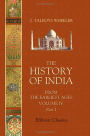 The History of India from the Earliest Ages