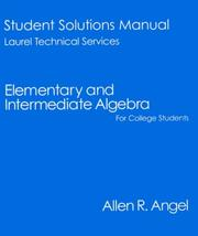 Cover of: Elementary and Intermediate Algebra for College Students