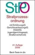 Cover of: Strafprozessordnung by Germany