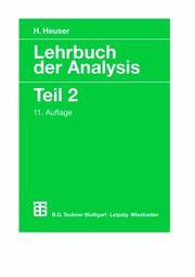 Lehrbuch der Analysis Heuser H.