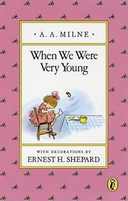 Cover of: When we were very young by A. A. Milne