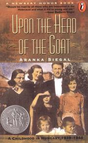 Cover of: Upon the Head of the Goat by Aranka Siegal