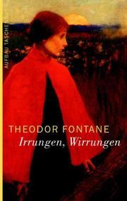 Cover of: Irrungen, Wirrungen by Theodor Fontane