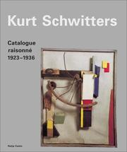 Cover of: Kurt Schwitters by Kurt Schwitters