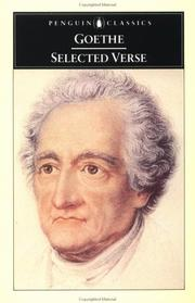 Cover of: Selected Verse by Johann Wolfgang von Goethe