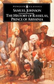 Cover of: Rasselas by Samuel Johnson