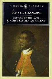 Cover of: Letters of the late Ignatius Sancho, an African by Ignatius Sancho