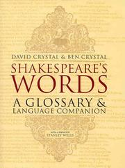 Cover of: Shakespeare&#39;s words by David Crystal