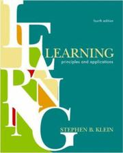 Cover of: Learning by Stephen B. Klein