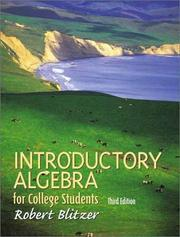 Cover of: Introductory algebra for college students | Robert Blitzer