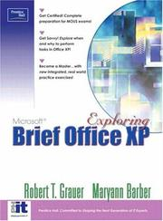 Cover of: Exploring Microsoft Office XP Professional (Brief) by Robert T. Grauer