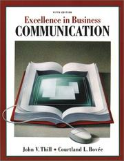 Cover of: Excellence in business communication by John V. Thill