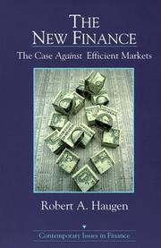 Cover of: The new finance by Robert A. Haugen