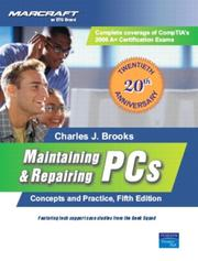 Cover of: Maintaining &amp; Repairing PCs by Charles Brooks
