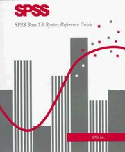 Cover of: Spss Base 7.5 Syntax Reference Guide by Spss Inc.