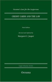 Credit Cards and the Law (Oceana's Legal Almanacs: Law for the Layperson) Margaret Jasper