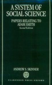 Cover of: A system of social science by Andrew S. Skinner