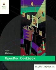 Cover of: OpenDoc cookbook for the Mac OS by Apple Computer Inc.