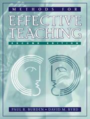 Cover of: Methods for effective teaching by Paul R. Burden