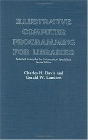 Cover of: Illustrative computer programming for libraries by Charles Hargis Davis