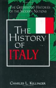 Cover of: The history of Italy by Charles L. Killinger