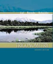 Cover of: Trigonometry by Margaret L. Lial, E. John Hornsby, David I. Schneider