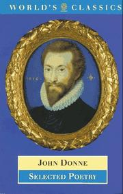 Cover of: Poems by John Donne