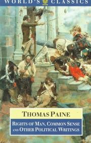 Cover of: Rights of Man by Thomas Paine