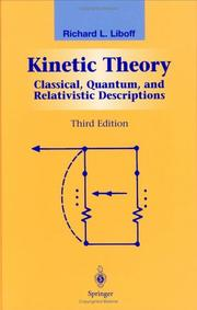 Cover of: Kinetic theory by Richard L. Liboff