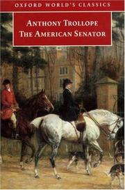 Cover of: The American senator by Anthony Trollope
