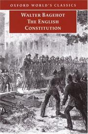 Cover of: The English constitution by Walter Bagehot