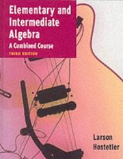 Cover of: Elementary and intermediate algebra by Ron Larson