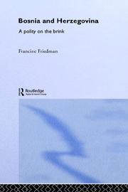 Cover of: Bosnia and Herzegovina by Francine Friedman
