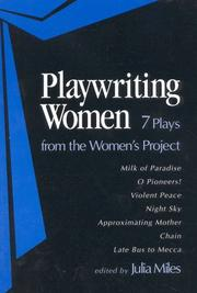 Cover of: Playwriting Women by Julia Miles