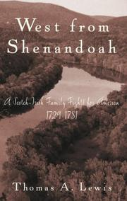 Cover of: West from Shenandoah by Thomas A. Lewis