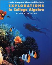 Cover of: Explorations in college algebra by Linda Almgren Kime