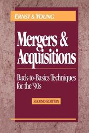 Cover of: Mergers and Acquisitions by Ernst & Young LLP