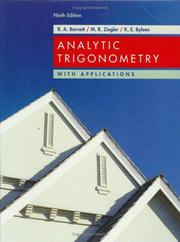 Cover of: Analytic trigonometry with applications by Raymond A. Barnett
