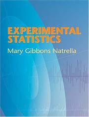 Cover of: Experimental statistics by Mary Gibbons Natrella