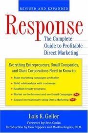 Cover of: Response by Lois K. Geller