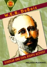 Cover of: W.E.B. DuBois by Melissa McDaniel